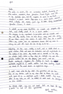 letter from letters from covid project