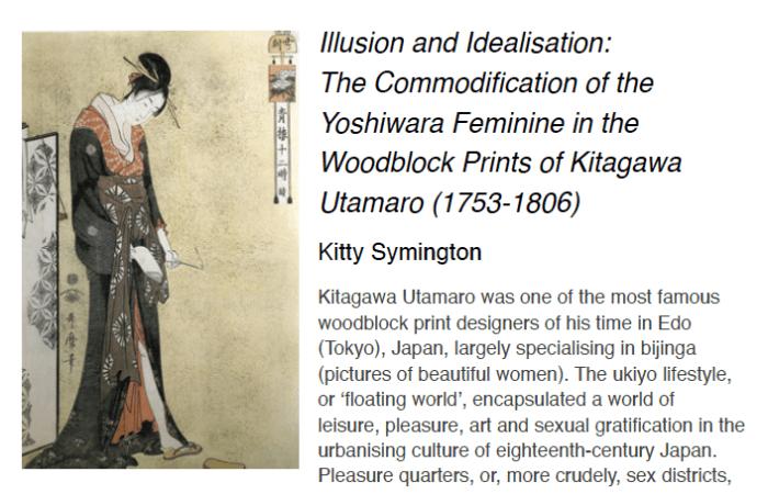 japanese artwork on kitty symington's final year essay