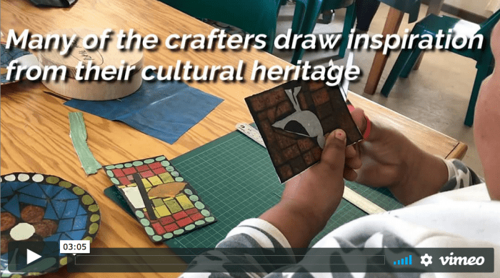 vimeo screenshot of craft project in south africa