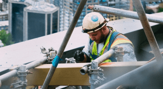 stock image of builder