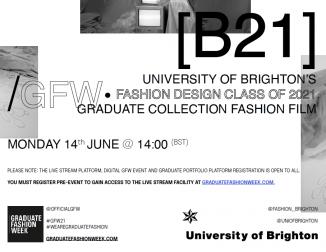 University of Brighton graduate fashion show ad