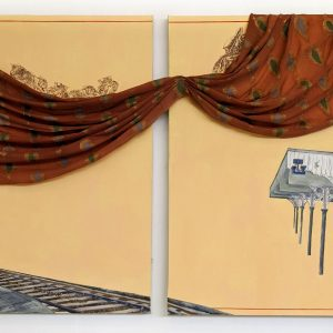 You must wear the most beautiful saris, 2 x 1.27m, Mixed media on canvas by Imogen Patel
