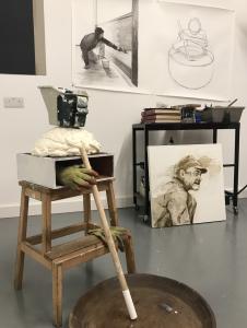 Anthony's studio