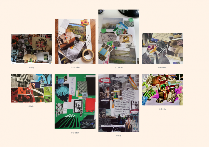 collection of student collages