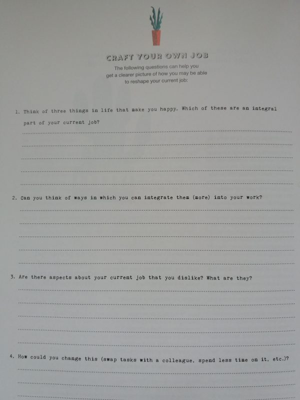 Craft Your Own Job page from Flow magazine