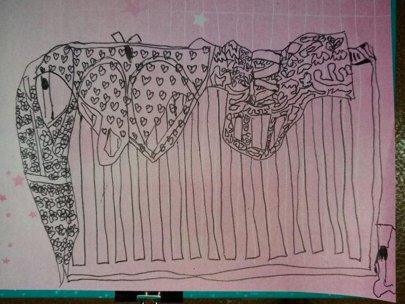 Inktober Day 11 - lingerie on the radiator