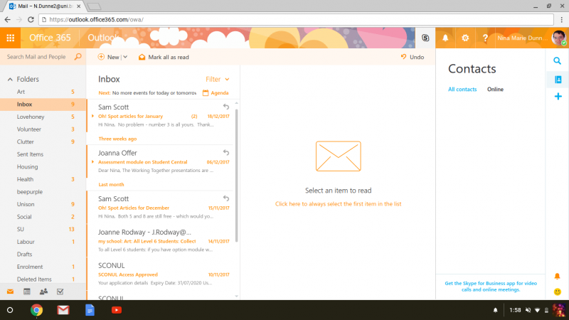 Screenshot of Outlook