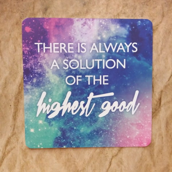 There is always a solution of the highest good