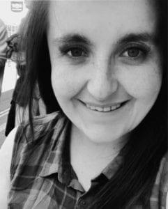 black and white photo of Sam
