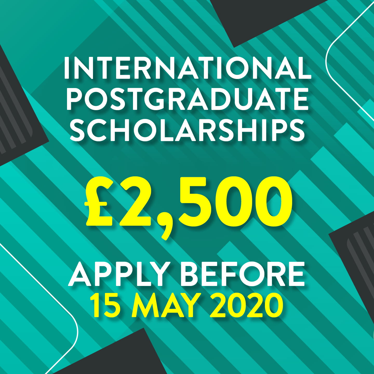 image showing scholarship value and deadline date