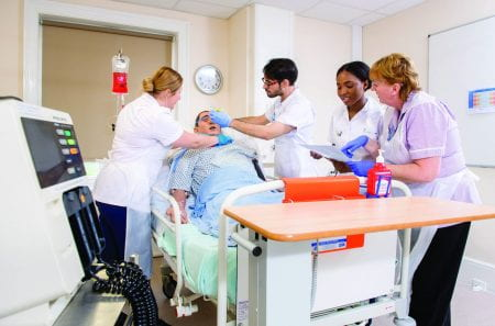 Nursing students in the University of Brighton skills suites