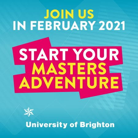 graphics saying start your masters adventure