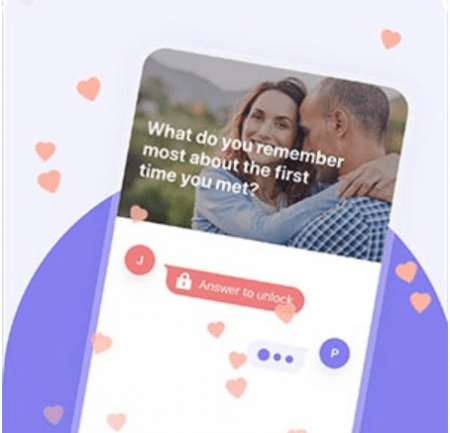 image of a dating app