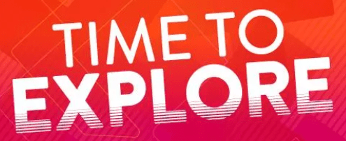 graphic saying time to explore