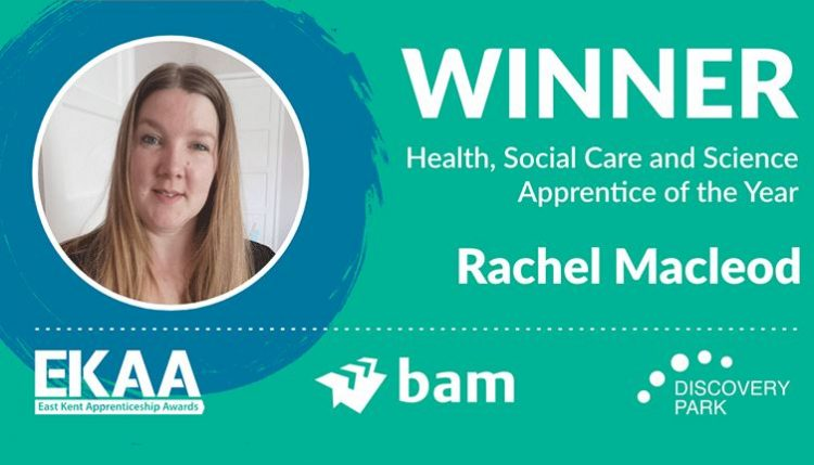 picture of Rachel Macleod, winner of Health, Social Care and Science Apprentice of the Year Award