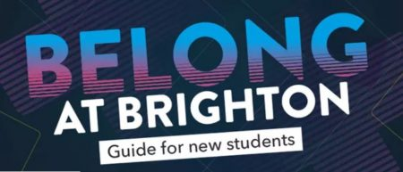 graphic saying belong at Brighton guide for new students