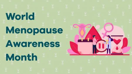 graphic saying: World Menopause Awareness Month