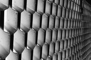 Abstract metal honeycomb