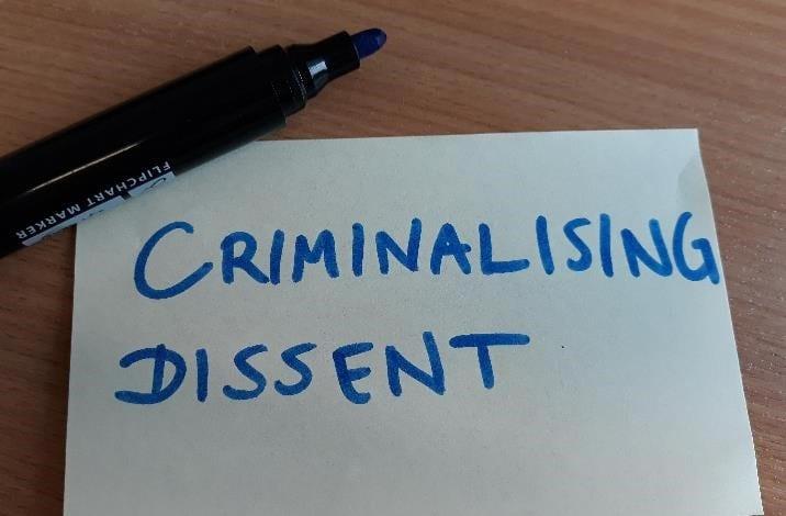 criminalising dissent
