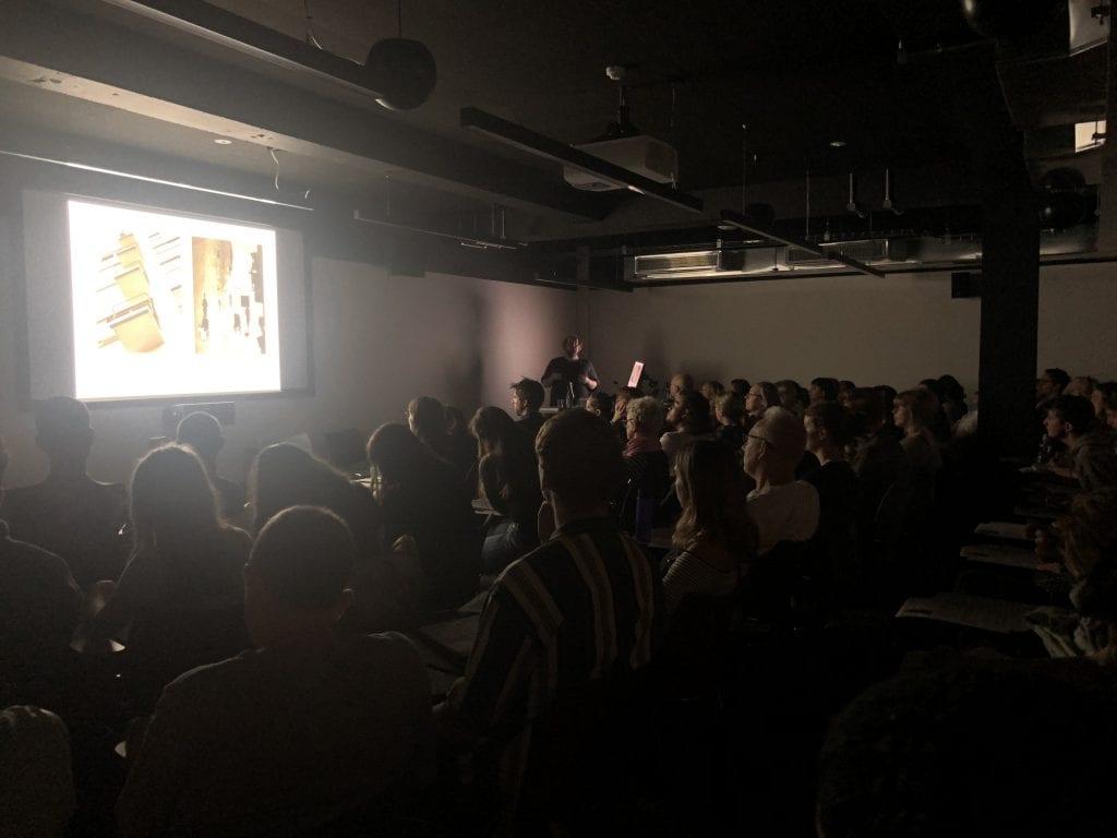 Duncan Woolridge talking at Photography Reframed