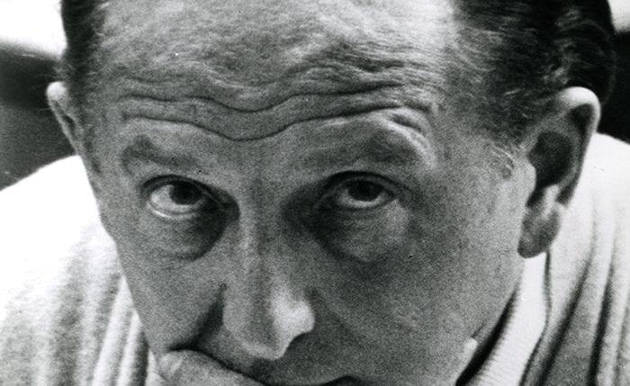 Black and white portrait of Hans Schleger