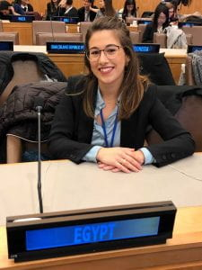 Michela at the UN