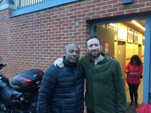 Dr Marlon Moncrieffe with Sir Bradley Wiggins