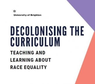 The cover of Decolonising the Curriculum