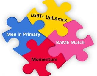 Jigsaw puzzle illustrating the four mentoring options