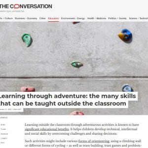 Learning through adventure: the many skills that can be taught outside the classroom