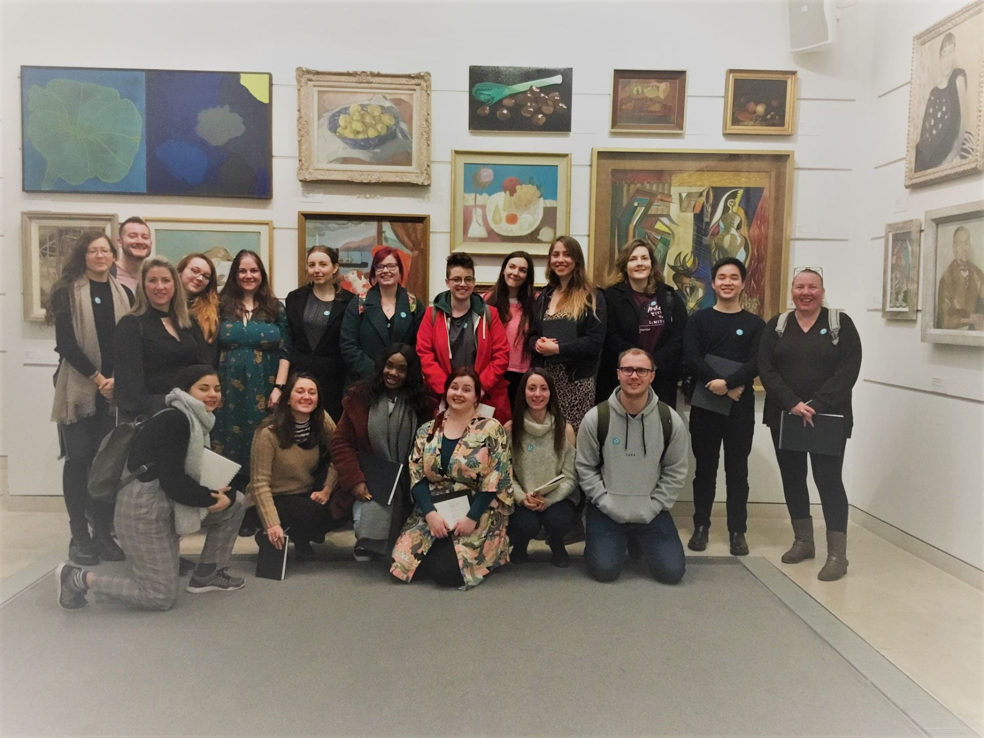 Group shot of Art PGCe trainee teachers at Pallant house Gallery