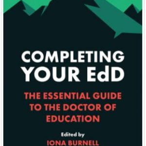 New publication – Completing Your EdD: The Essential Guide to the Doctor of Education
