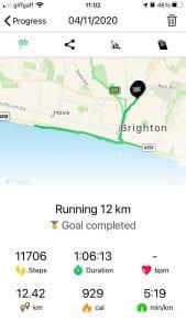 Map showing how far james has run