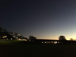 checkland building at night