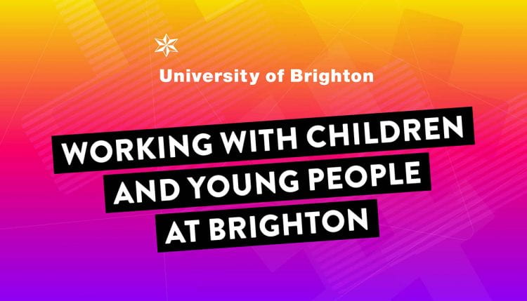 Working with children and young People slogan