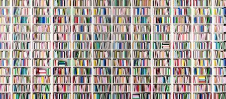 an image of books on shelves