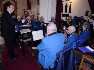 Waltham St Lawrence Silver Band, in All Saints' Church, Bisham