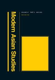 Modern Asian Studies image - Jon