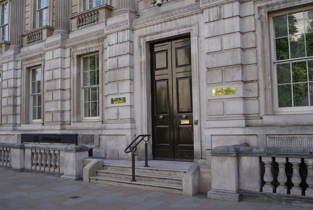 Cabinet Office, Whitehall. Credit - Smuconlaw, Wikimedia Commons.