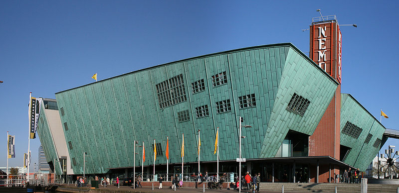 NEMO science museum, Amsterdam, part of the largest science centre in the Netherlands. Credit S Sepp, Creative Commons.