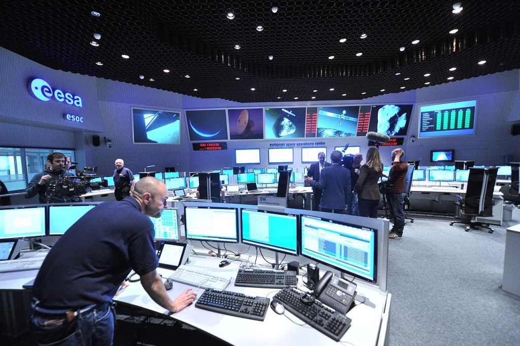 Main Control Room / Mission Control Room of ESA at the European Space Operations Centre (ESOC) in Darmstadt, Germany. Credit - ESA Jurgen Mai