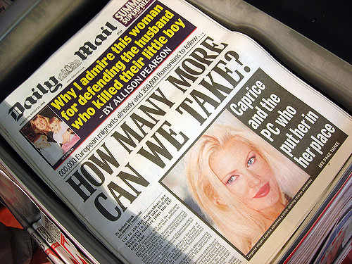Daily Mail newspaper, 23 August 2006. The headline was repeated in August 2015. Credit - Gideon/Flickr.com