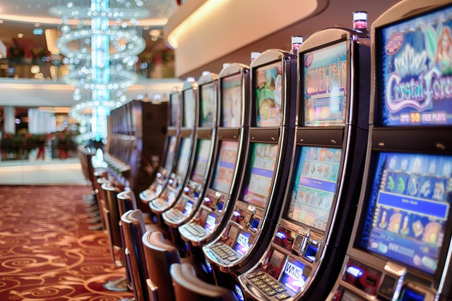 Image of electronic gambling machines.