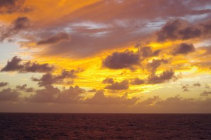 The sun sets on our last full day at sea. Photo by Kais