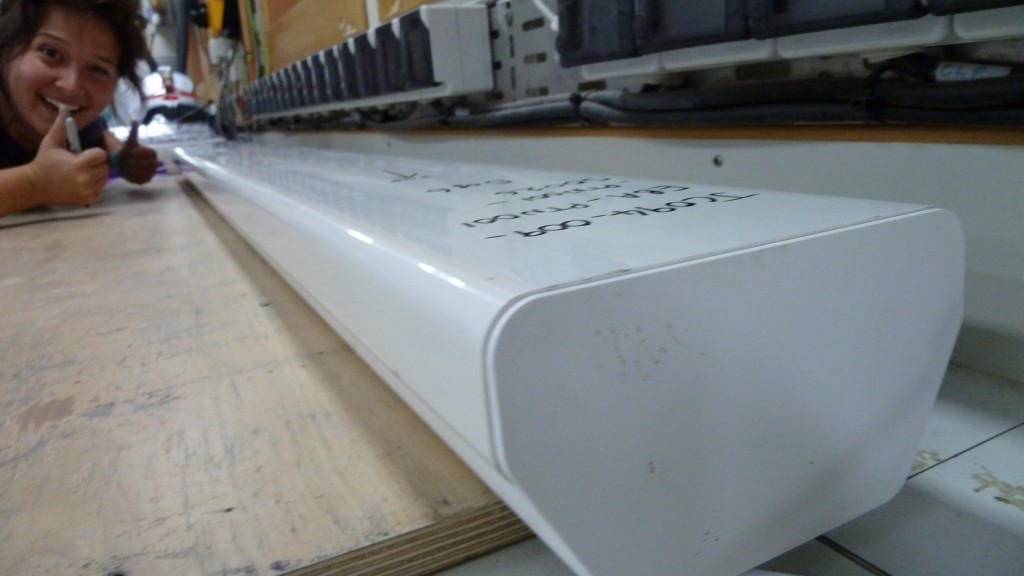 And finally, the sediment core goes into these D-tubes before being put in cold storage. Photo by: Stephanie