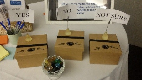 Pebbles and 'live voting' ballot boxes