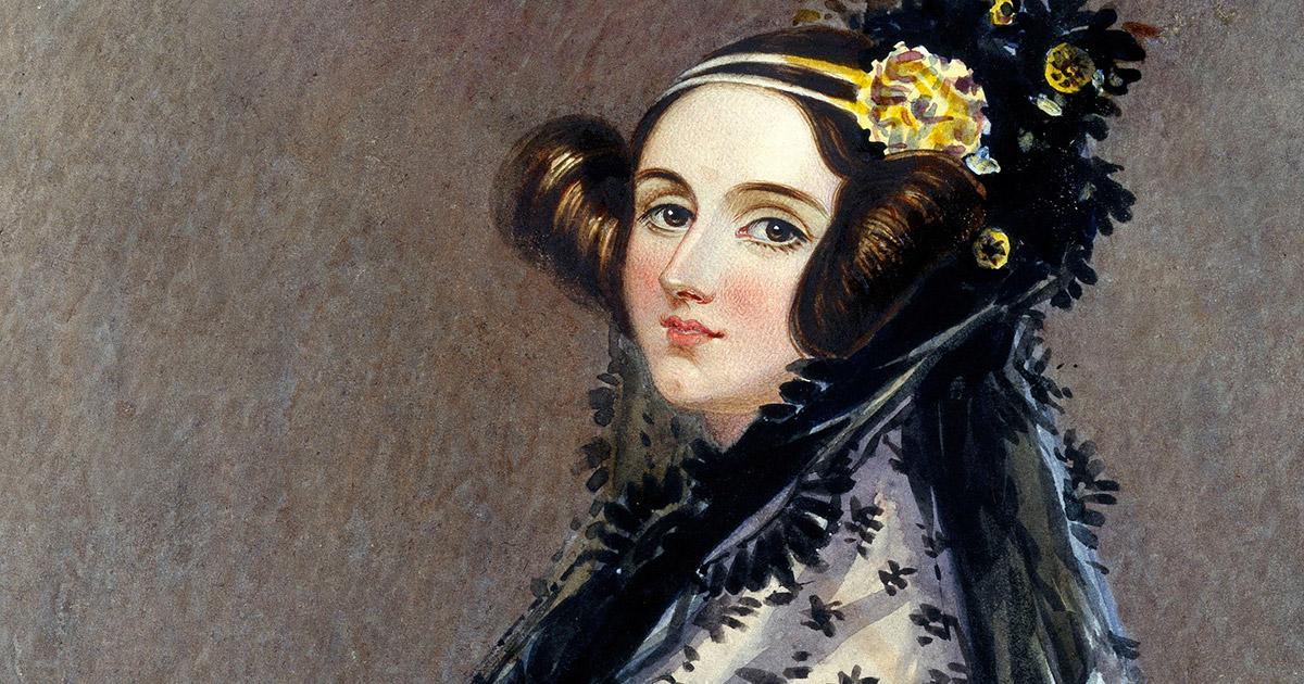 Portrait of Ada King, Countess of Lovelace (Ada Lovelace), by Alfred Edward Chalon