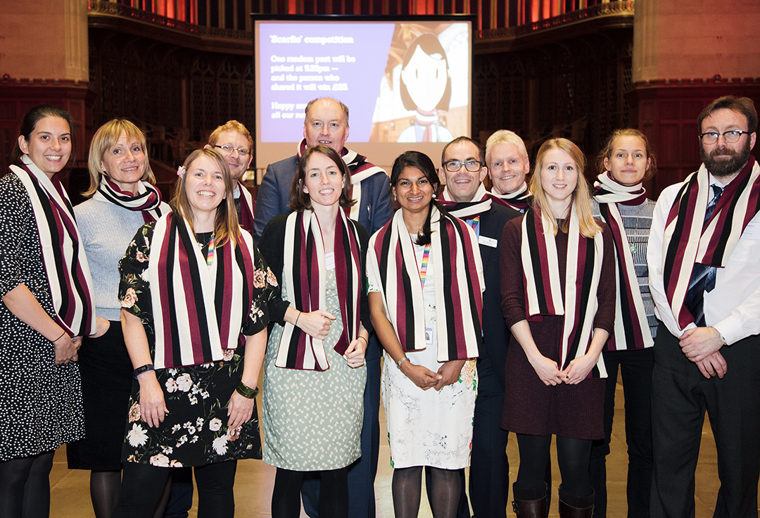 The Bristol Doctral College team at November's researcher inauguration
