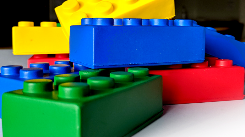 Multi-coloured blocks