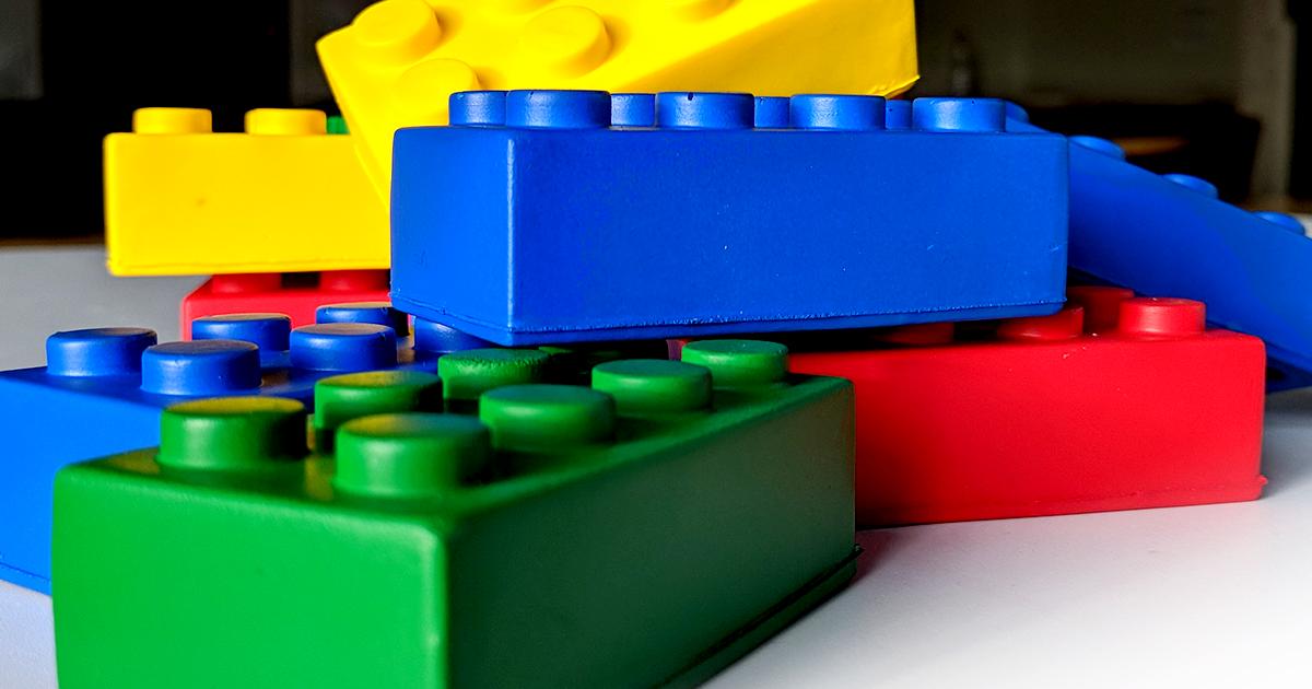 Multi-coloured blocks